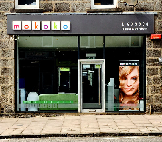 Mokoko Hair Salon Aberdeen Shop Front